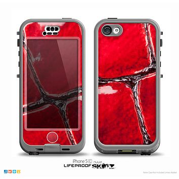 The Grungy Red Scale Texture Skin for the iPhone 5c nüüd LifeProof Case