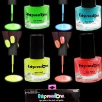 Glow In The Dark And Under Black Light Nail Polish 4-Piece Set AL#GG10912