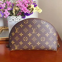 LV Louis Vuitton Popular Women Zipper Toiletry Handbag Cosmetic Bag Purse Wallet