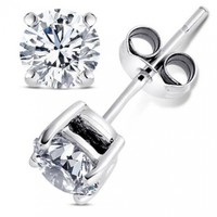 Best Combo Synthetic Birthstones 2.00 Carat Round Stud Earrings and 2 Carat Round Pendant with Chain 18 Inch 925 Sterling Silver