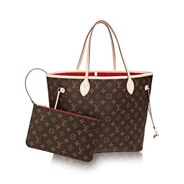 Image of Louis Vuitton Damier Ebene Canvas Neverfull PM N41359 H 8-14