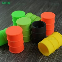 10pcs 26ml large oil drum storage container food grade silicone removable bho wax containers free shipping