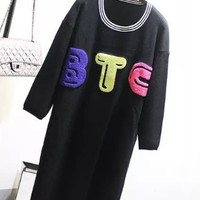 Black BTC Retro Lond Knitted Dress