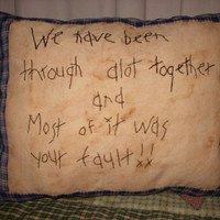 Primitive pillow funny saying PATTERN