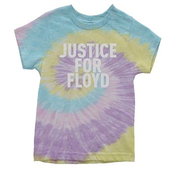 Justice For Floyd Youth Tie-Dye T-shirt