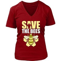 Save the Bees (Honeycomb) - Women's V-Neck Tee