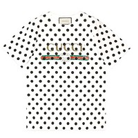 GUCCI New fashion letter color couple top t-shirt