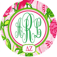 Lilly Pulitzer Sorority Monogramed Signs. Sorority Initiation or Bid Day gifts. Perfect gift from big to little! Monogrammed Sorority Gifts.