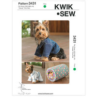 DOG COAT JACKET Pattern Dog Robe Pattern Cat Bed House Size Xsmall Small Medium Large X-Large UNCuT Kwik Sew 3431 Pet Craft Sewing Patterns