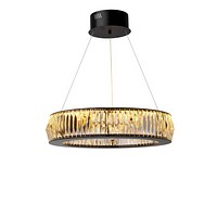Black Ring Crystal Glass Chandelier S   Eichholtz Vancouver