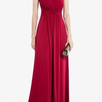 BCBGMAXAZRIA - SHOP BY CATEGORY: DRESSES: VIEW ALL: QUENBY LONG DRAPED DRESS