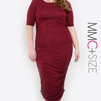 Amber Ruched Dress Plus Size