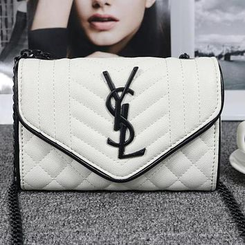 Perfect YSL Yves Saint Laurent Women Shopping Bag Leather Chain Shoulder Bag Satchel  Crossbody
