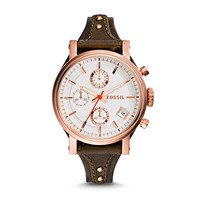 Original Boyfriend Chronograph Raisin Leather Watch - $135.00