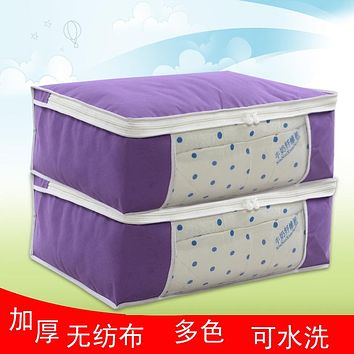 Clothes Packing Bag Non-Woven Clothes Storage Bag Transparent Window Finishing Bag Oversized Cotton Quilt Dust Environmental Protection