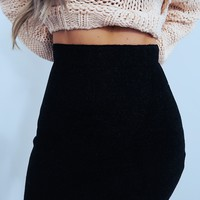 Turn Away Skirt: Black