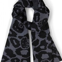 """""""Hello Kitty"""" Scarf by Loungefly (Grey Leopard)"""