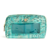 Classic Make-Up Case - Metallic Turquoise