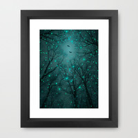 Silently, One by One, the Infinite Stars Blossomed (Geometric Stars Remix) Framed Art Print by Soaring Anchor Designs
