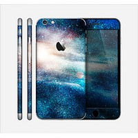 The Blue & Gold Glowing Star-Wave Skin for the Apple iPhone 6 Plus