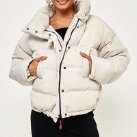 Light Before Dark Putty Pillow Puffer Jacket | Urban Outfitters