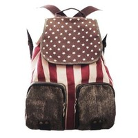 Oryer Cute Retro Vintage Star Backpack with Two Big Pockets