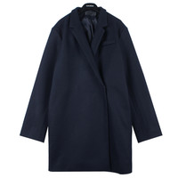 Snap Buttoned Duffle Coat w/ Left Chest Pocket