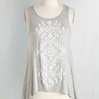 Boho Short Length Sleeveless Ramble Through Reno Top