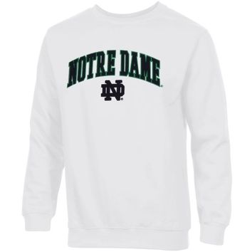 Notre Dame Fighting Irish Basic Crew Neck Sweatshirt - White