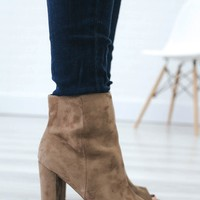 Under My Spell Booties - Taupe