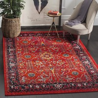 Safavieh Vintage Hamadan Traditional Orange/ Navy Distressed Rug (5' x 8')   Overstock.com Shopping - The Best Deals on 5x8 - 6x9 Rugs