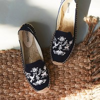 Free People Santorini Embroidered Espadrille