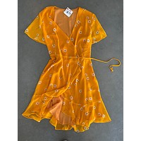 Marigold Wrap Dress