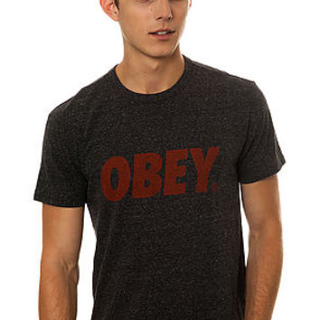 The Obey Font Tee in Heather Onyx
