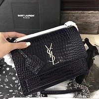 YSL Yves Saint Laurent Hot Sale Women Shopping Bag Leather Metal Chain Crossbody Satchel Shoulder Bag