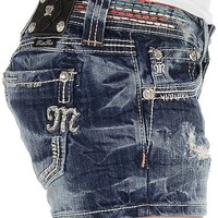 Miss Me Embroidered Stretch Short - Women's Shorts   Buckle