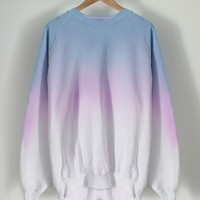 ANDCLOTHING — Pastel Crayon Dip Dye Sweater SOLD OUT
