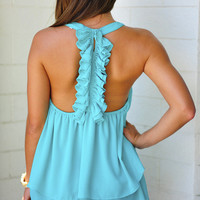 Island Time Tank: Bright Teal   Hope's