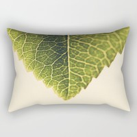 green leaf abstract Rectangular Pillow by Ingrid Beddoes