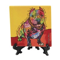 Animal Pitbull Stone Coaster Absorbent - 78405