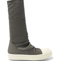 Rick Owens - Blistered Stretch-Nubuck Sneaker Boots