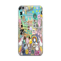 Unicorn What Ever Hands Stars XOXO Starbucks Coffee Rainbow Emoji Collage Teen Cute Girly Girls iPhone 4 4s 5 5s 5C 6 6s 6 Plus 6s Plus 7 & 7 Plus Case
