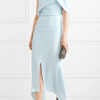 Roland Mouret - Harlow one-shoulder embroidered cloqué dress