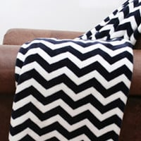 Classic Chevron Fleece Throw