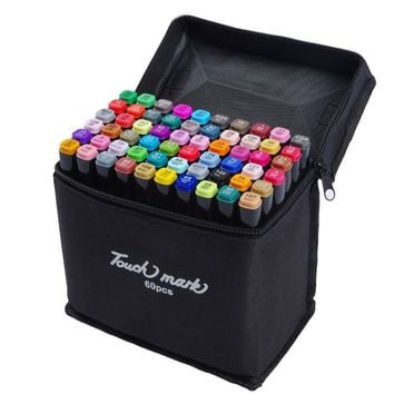 80 Colors Profession Oily Marker Pen Art Set Based For Comic Sketch School Design Drawing Manga Supply Double Head Brush Pen