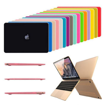 Crystal Rubberized Matte Hard Case Cover Cut-Out  for Macbook Pro 13.3 15.4 Pro 12 13 15 inch  Air 11 13 Laptop Shell