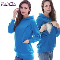Emotion Mom Winter Maternity clothes maternity Breastfeeding Tops nursing clothes for pregnant women Maternity Hoodie sweater