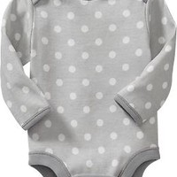 Long-Sleeve Bodysuits for Baby