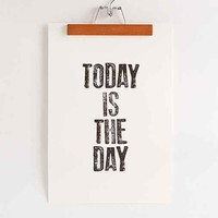 Word Bird Today Is The Day Art Print