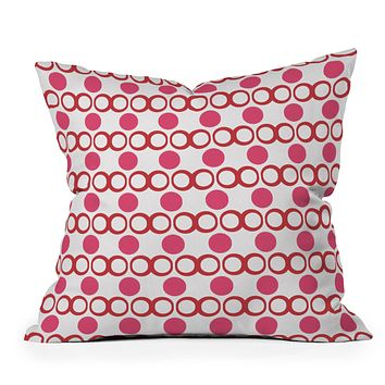 Lisa Argyropoulos Retrocity In Cranberry Throw Pillow